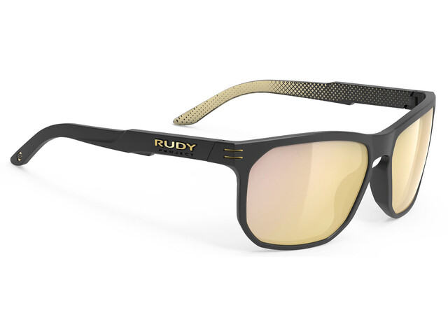 Rudy Project Soundrise Glasses, black matte/ice gold pattern/multilaser gold